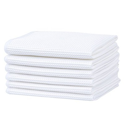 (30cm x 30cm, White) - Microfiber Deep Waffle Weave Dishcloths Absorbent Kitchen Cleaning Rags 30cm...