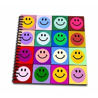 InspirationzStore Smiley Faceコレクション–カラフルなSmiley Face Squares Warholスタイル–Happy Rainbow Smilies–...