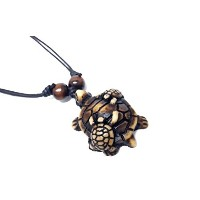 Yak Bone樹脂Turtle Family necklace-mother and Baby Turtles