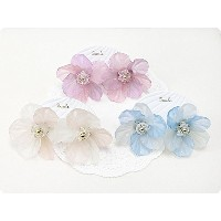 blooming frost flower ピアス 【zoule/ゾーラ】 BLUE