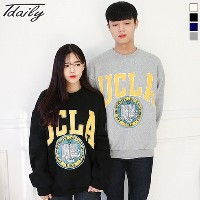 [T daily] Unisex UCLA Over Buffet Brushed One-Piece Long Sleeve T-shirt (4color) One-to-One from to