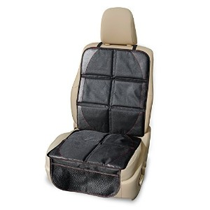 #1 Child Car Seat Protector   Click to see why? Super Grip Vinyl Pad Keeps Infant Seats Cover in...