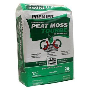 Premier 0280P Pro Moss Horticulture Retail Peat Moss, 1 Cubic Feet by PREMIER HORTICULTURE