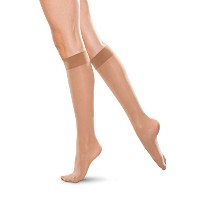Therafirm Knee High Support Stockings - 20-30mmHg Moderate Compression Nylons (Sand, 4X-Large) by...
