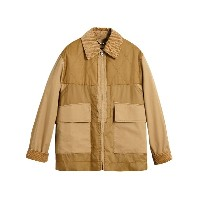 Burberry Quilted Panel Cotton Blend Jacket - ブラウン