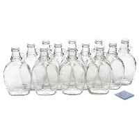 North Mountain Supply Maple Syrup Bottles withループハンドル 12 Ounce With Shrink Bands クリア