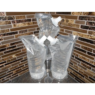 Booze Cruiser ®プラスチッククルーズフラスコセットPerfect for Rum Runner Cocktails ( 3x 32oz + Funnel