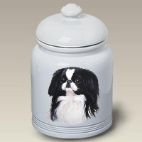 "Japanese Chin :セラミックTreat Jar 10 "" High # 45133"