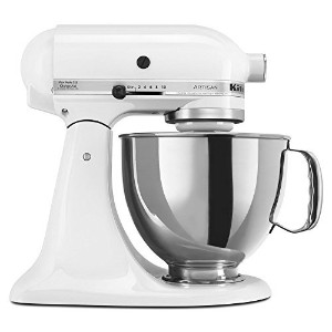 Kitchen Aid 5KSM150 Stand Mixer White - 220 Volts Only! Will Not Work In The USA by KitchenAid