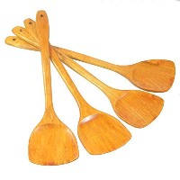 Lautechco Wooden Turner Kitchen Cooking Tool Wood Shovel Special Wooden Spatula For Non-stick Pan...