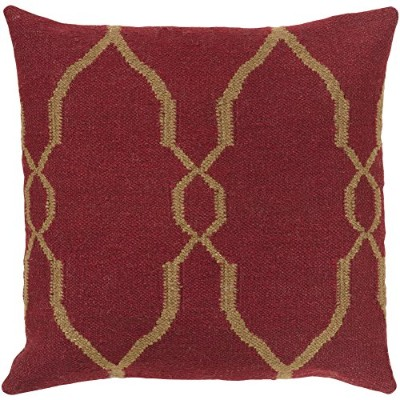 Surya Rug FA019-1818P Square Chocolate Brown Poly Fiber Pillow 18 x 18 in.