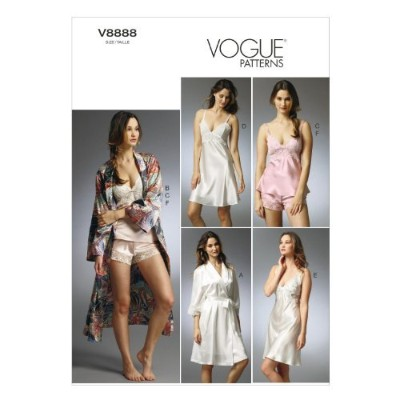 VOGUE PATTERNS V8888 Misses' Robe/Slip/Camisole and Panties Sewing Template, Size EE (14-16-18-20)...