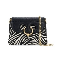 JW Anderson zebra piercing mini bag - ブラック