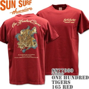SUN SURF(サンサーフ)T-SHIRTS『ONE HUNDRED TIGERS』SS77980-165 Red