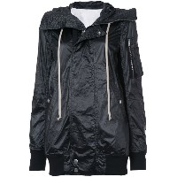 Rick Owens DRKSHDW waterproof hooded jacket - ブラック