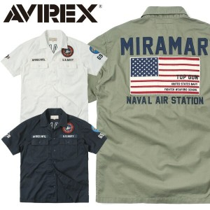 AVIREX アビレックス 6185107 S/S PATCHED ミリタリー シャツ 父の日 ギフト プレゼント
