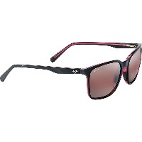 マウイジム メンズ メガネ・サングラス【Wild Coast Polarized Sunglasses】Black / Red / Maui Rose Polarized