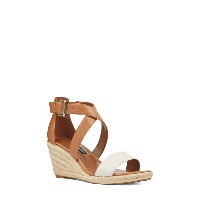 ナインウェスト レディース サンダル シューズ Nine West Jorjapeach Espadrille Wedge Sandal (Women) White Leather