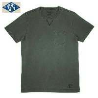 NAKED SUN USA COTTON CREW NECK POCKET Tee CHARCOAL