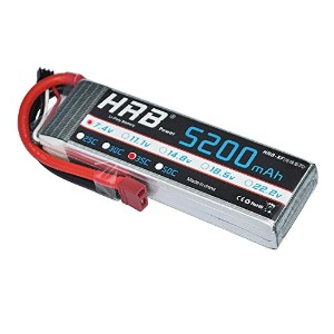 HRB 7.4V 2S 5200mAH 35C Lipo Deans Tコネクタ付き RCカーボート航空機クアドコプターモデル用