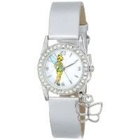ディズニー Disney Women's TK1032 Tinkerbell ティンカーベル White Dial Silver Metallic Strap Watch 女性 レディース 腕時計 ...