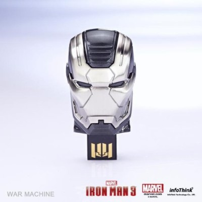 "InfoThink / MARVEL IRONMAN3 アイアンマン3 / 8GB USB Flash Drive / Mask ""WAR MACHINE"" ウォーマシン / IT-I3USB08WM"