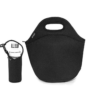 BOP Lunch Bags Insulated Neoprene Bag, X Large, Black by BOP Lunch Bags