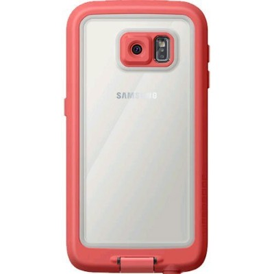 LifeProof FRE Samsung Galaxy S6 Waterproof Case - Retail Packaging - CUTBACK CORAL (CORAL/CANDY...