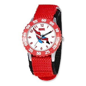 Marvel Spiderman Kidsレッド Band Time Teacher Watch