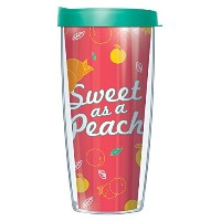 Sweet As A PeachラップタンブラーMug with Lid 16 Oz ピンク