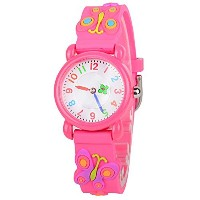 venhoo Kids Watches Cartoon防水シリコン子供腕時計Time Teacher Gifts for Boys Girls レッド