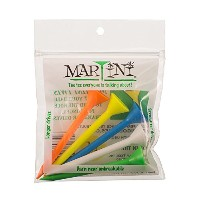 """High Quality/4"""" Durable Plastic Tees 5-Pack (Assorted Colors)"""