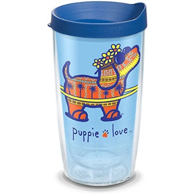 Tervis 1293955Tumbler with Wrap、16オンス、クリア