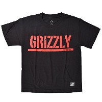 GRIZZLY グリズリー キッズ 半袖 Tシャツ VIGR181Y2 BLACKRED L