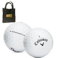 36Callaway Supersoft AAAAAミントusedゴルフボールwithトートバッグ