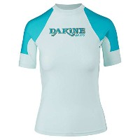 2018 Dakine Womens Flow Snug Fit Short Sleeve Rash Vestベイ諸島10001680 sizes- – Large