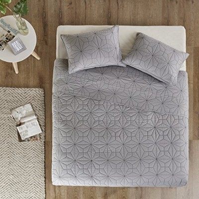 Caden 3 Piece Coverlet Mini Set King/Cal King グレー