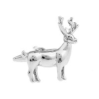 Large Standing Stag Cufflinks Deer Shooting Hunting Stagsシルバーカフリンク