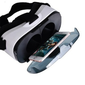 3D VRゴーグル VRヘッドセット 4-6.5インチ スマホ用 Myguru Portable 3D VR Glasses Virtual Reality Headset Gear Adjust...