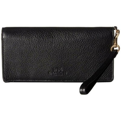 コーチ レディース 財布【Pebbled Leather Slim Wallet】IM/Black