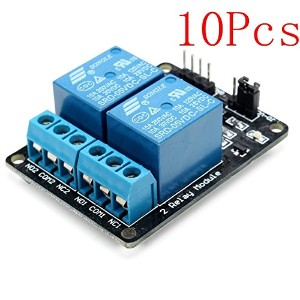 ILS - 10 pieces 2 Way Relay Module With Optocoupler Protection