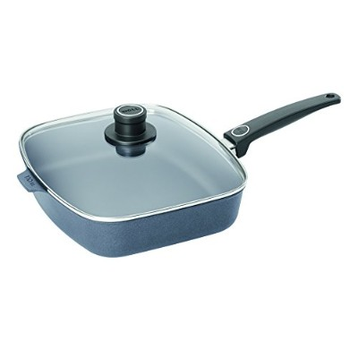 (Chef's Pan, 27cm x 30cm) - Woll Diamond Plus Induction 27cm x 30cm Rectangle Chef's Pan with Lid