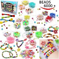 Joyin Toy 6000 Pieces DIY Beads Kit; 28 Different Types & 4 Colour Strings Acrylic DIY Beads for...