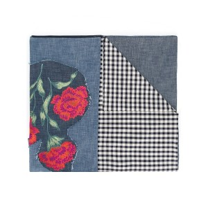 Ermanno Gallamini patterned embroidered scarf - ブルー