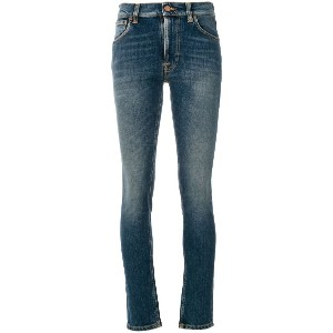 Nudie Jeans Co Lean Dean cropped skinny jeans - ブルー