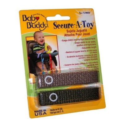 Baby Buddy 2 Count Secure-A-Toy, Tan/Olive by Baby Buddy [並行輸入品]