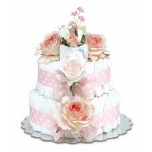 Bloomers Baby Diaper Cake Classic Pink Roses 2-Tier by Bloomers Baby [並行輸入品]