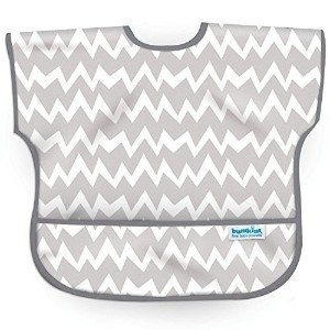 Bumkins Waterproof Junior Bib, Gray Chevron, 1-3 Years by Bumkins [並行輸入品]