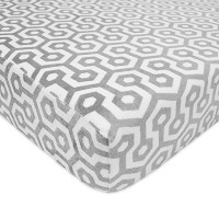American Baby Company Heavenly Soft Chenille Fitted Crib Sheet, Gray Honeycomb by American Baby...