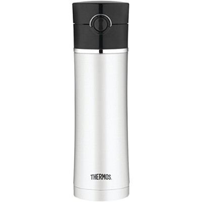 Thermos 16 Ounce Stainless Steel Vacuum Insulated Drink Bottle, Black [並行輸入品]